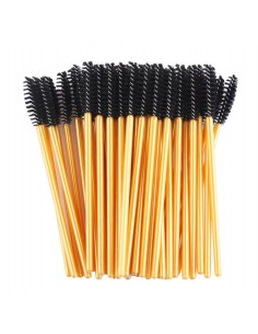 Gold Mascara Wands Brushes (50 pcs)