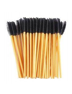 Gold Mascara Wands Brushes (50 pcs)