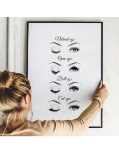 Poster Eyes with black frame