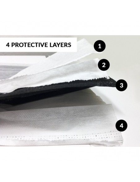 4 Layers Activated Carbon Face Mask