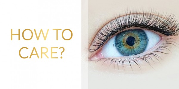 How to care for you eyelash extensions